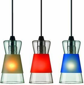 Authentics Lampa wisząca Pure czarna, czerwona, Niebieski