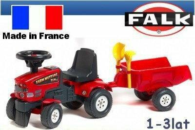 Falk Traktor Mustang z przyczepą czerwony FALK 1080C
