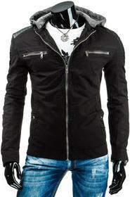 czarna męska kurtka przejściowa (tx0964)