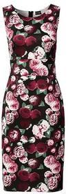 Bonprix Sukienka neoprenowa czarny w kwiaty 941021