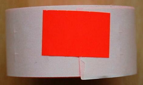 Rolka do metkownicy dwurzędowej - 2,6x1,6cm czerwona prosta 00516