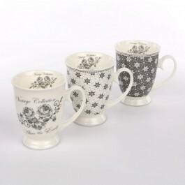 Altom Kubek do kawy / herbaty na nóżce porcelana Emily