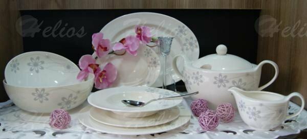 Karolina Serwis obiadowy dla 12 osób - AMELIA s-02982 (ecru)