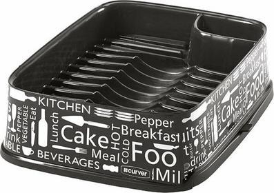 Curver DECO Suszarka do naczyń prostokątna czarna Kitchen 211630