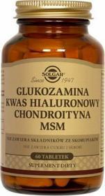 Solgar Glukozamina Kwas hialuronowy chondroityna 60 szt.