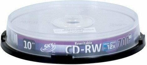 PŁYTY CD-RW SKY 10 SZT