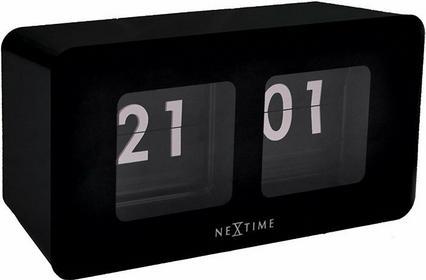 Nextime Zegar stojący Flipped czarny 5186ZW