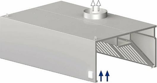Stalgast Okap przyścienny skrzyniowy 1600x600x450 mm 9820606160