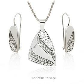 AnKa Biżuteria Biżuteria srebrna komplet z cyrkoniami