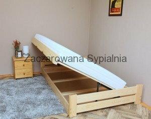 Zaczarowana Sypialnia ŁÓŻKO Tapczan CHAMP sosna pod materac 120x200