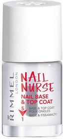 Rimmel London Nail Nurse Nail Base & Top Coat 12ml W Baza pod lakier 5w1