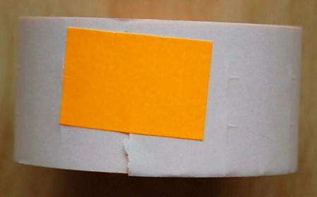 Rolka do metkownicy dwurzędowej - 2,6x1,6cm pomarańczowa prosta 00513