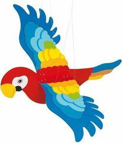 Goki Drewniana dekoracja pokoju do zawieszenia. Kolorowa papuga GK454