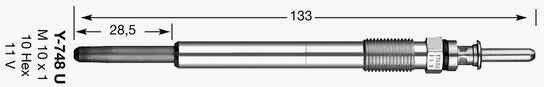 NGK Świeca żarowa 6649 D-Power