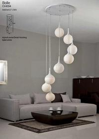 Maxlight sufitowa LAMPA wisząca OPRAWA plafon DO salonu BOLLE CX4094 kule Biały