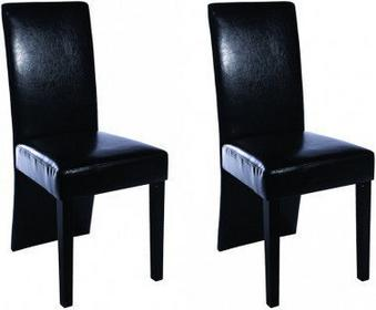 Krzesła ze skóry ekologicznej, czarne