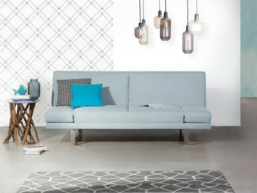 Beliani Sofa z funkcją spania jasnoniebieska - kanapa rozkładana - wersalka - YORK błękitny