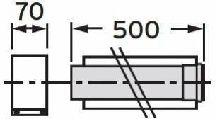 Vaillant rura koncentryczna 500 mm fi 80/125 rura do Komina PP 303202