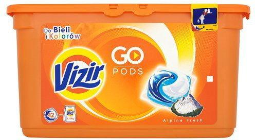 Vizir Go Pods Alpine Fresh Kapsułki do prania do bieli i koloró