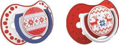 Lovi Smoczek Smoczek uspokajający 2szt, od urodzenia, kolekcja WINTER (czerwony)
