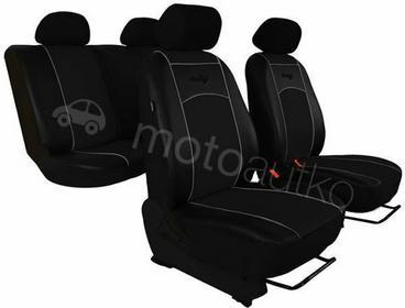 POK-TER Pokrowce samochodowe uniwersalne Eko-skóra Czarne Volkswagen Passat B5 1