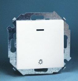 Kontakt Simon Simon15 (biały) - Przycisk światło z podświetleniem - 1591161-030