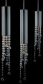 Italux Kryształowa LAMPA wisząca listwa sufitowa OPRAWA zwis nad stół LARIX MD93