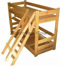 Zaczarowana Sypialnia Łóżko piętrowe TAPCZAN EXTREMUM sosna pod materace 80x200 (bez materacy)