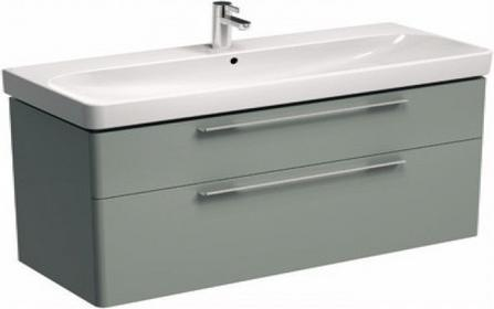 Koło Szafka pod umywalkę TRAFFIC 116,8 x 62,5 x 46,1 cm, wisząca, platynowy poł