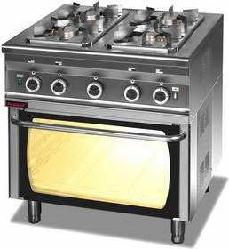 Kromet Kuchnia gazowa 4 - palnikowa 2,5 + 3 x 3,5 kW z piekarnikiem gazowym PG-2