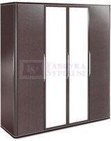 Bogatti Szafa 4 drzwiowa z lustrem Piagio II bukowa