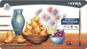 Polycolor Kredki ołówkowe Lyra Rembrandt Hi-Quality metalowa kaseta - 72 kolory
