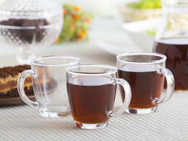No Kubki szklane szklanki Lisboa Cok 300 ml, komplet 3 szt