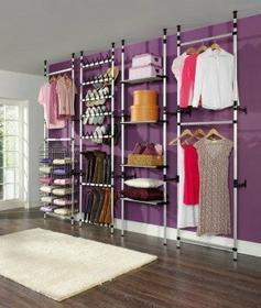 RUCO Zestaw system garderoba, Wieszak na ubrania 4 segmenty