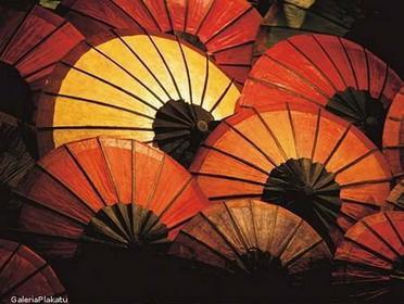 Japanese Parasols - Obraz, reprodukcja