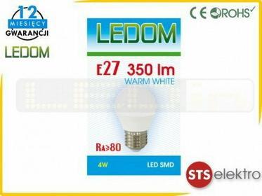 Ledom Żarówka E27 SMD 230V biała ciepła Kulka 245589