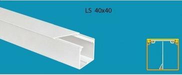 Stasiński Listwa elektroinstalacyjna LS 40x40 z możliwością montażu separatora 1