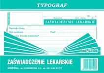 Typograf Zaświadczenie lekarskie A6