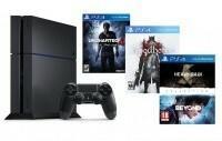 Sony PlayStation 4 1TB Czarny + Uncharted 4 + Bloodborne + Heavy Rain & Beyond Dwie Dusze