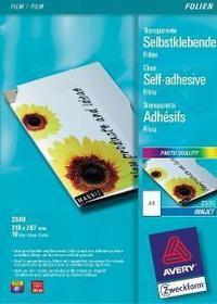 Avery Zweckform Folia laminacyjna SAMOPRZYLEPNA ZWECKFORM 0,17 MM DO DRUKAREK ATRAMENTOWYCH