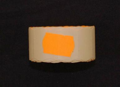 Rolka do metkownicy dwurzędowej - 2,6x1,6cm pomarańczowa falista 00922