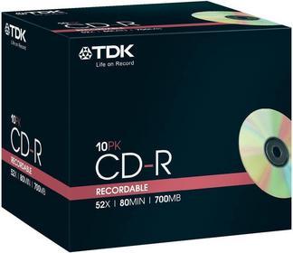 TDK Płyta CD CD-R80JCA10P-D 700 MB 52 x 80 min 10