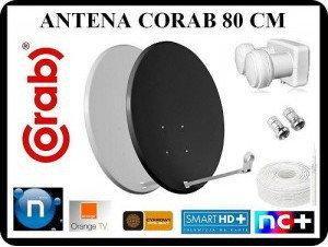 CORAB ANTENA 80 CM + MONOBLOCK + 20M KABLA+ 2 x F
