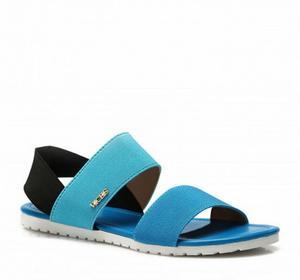 niebieskie sandały Merve