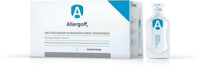 Icb Poland PHARMA SP J Allergoff Neutralizator alergenów kurzu domowego Płyn do tkanin 6 amp a 20 ml