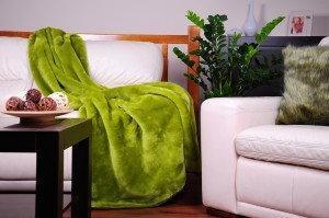 Runotex Koc akrylowy zielony 150x200