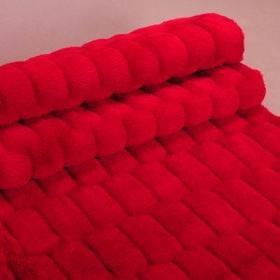 Runotex Narzuta futerkowa czerwona 150x200