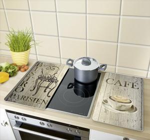 Wenko Szklane płyty ochronne na kuchenkę, CAFE BISTRO - 2 sztuki 3.13 - 7F1