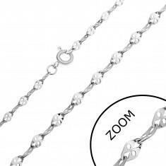 Łańcuszek ze stali - spłaszczone ogniwa z dziurką