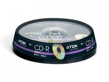 TDK Dysk CD-R Audio 700MB 10Pack CDR10767